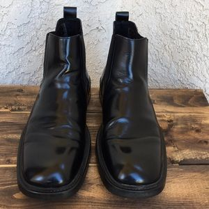 Kenneth Cole Reaction Black Leather Boots 12